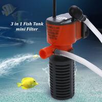 Aquarium Filter Submersible Internal Fish Tank Water Purifier Pump 220V
