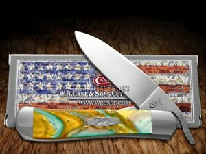 Case xx Russlock Knife Abalone Corelon 6084AB Stainless Pocket Knives