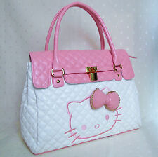 d05e5e5fa223 HelloKitty Lock Handbag Tote Shoulder Bag 2019 New Pu Bow White