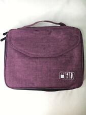 Electronics Bag, Jelly Comb Electronic Accessories Travel Cable Organizer Purple