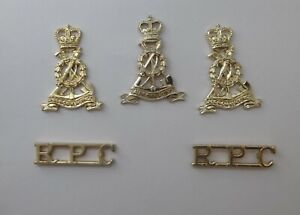 British Army Cap Badge, Collar Badges, Shoulder Titles - Royal Pioneer Corps RPC