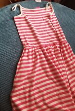 girl 11-12 12 years next striped pink summer dress from next BNWT