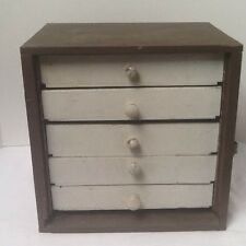 Primitive Apothecary wood chest small Hand-Made of  5 drawers Dresser Antique
