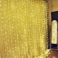3mx3m LED Lichtervorhang Lichternetz 300 LED Lichterkette Innen&Außen Licht IP65