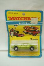 VINTAGE MATCHBOX CAR SUPERFAST JAVELIN NO 9 LESNEY 1971 MOC MIP DIECAST TOY