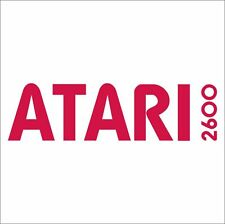 Atari 2600 Logo Vintage Retro Gaming Console Car Wall Fridge Sticker Decal