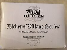 Dept. 56 Heritage Dickens Village Thomas Mudge Timepieces 58307