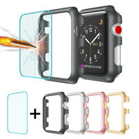 For Apple Watch Series 1/2/3 Bumper Case+Tempered Glass Screen Protector 38/42mm