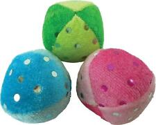 """IMPERIAL CAT GLITTER BALLS CATNIP TREATED TRIO 3 PACK 1.5"""" TOY LOT. FREE SHIP US"""