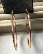 QVC Sterling Silver Rose Gold Plated Large Hoop Earrings