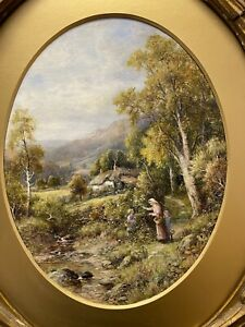 ROBERT JOHN HAMMOND FINE QUALITY ANTIQUE OIL PAINTING ON BOARD SIGNED & DATED