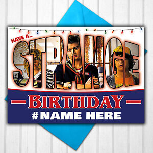 Stranger Things Personalised Birthday Card Any Name or Relative Age