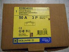 """Square D EDB34050 50 Amp 3 Phase 480/277 Volt Breaker """"NEW IN BOX"""""""