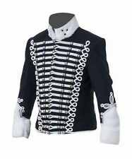 Napoleonic and Crimean Pelisse - black wool white frogging  - made to order