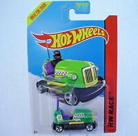 2014 Hot Wheels 166/250. GREEN Bump Around Bumper Car.  New in Package!