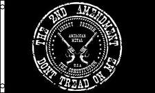3x5 Gadsden Tea Party 2nd Amendment Two Pistols Gun Don't Tread On Me Flag