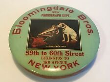 Nipper Dog Edison Phonograph Record Bloomingdale's Department Store Advertising