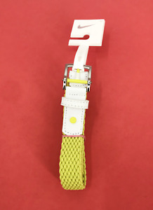 Nike GOLF Stretch Woven Women's Golf Belt Size Small Yellow / Elime #6936