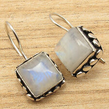 Free Shipping on Additional Items! 925 Silver Plated Rainbow Moonstone Earrings