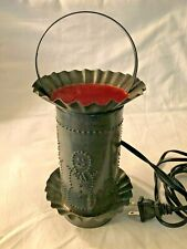 Irvins Country Tinware Primitive Handcrafted Punched Candle Burner Snowman Vgc