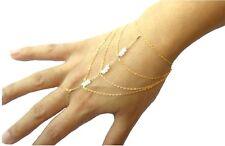 Hot Handmade Multi Chain Tassel Bracelet Bangle Slave Finger Ring Hand Harness