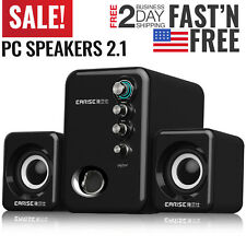 Computer PC Speakers 2.1 Desktop with Subwoofer Audio Laptop USB Portable Mini