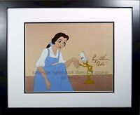 Disney Beauty Beast  Signed Paige O'Hara ON CEL Disney Sericel Enchanted cel