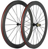 700C 50mm Road Bike Carbon Wheels Carbon Wheelset Clincher Bicycle 3k Matte Rim