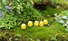 5pcs Cute Mini Chicken Ornament Miniature Home/Garden/Easter Scene Decorations!