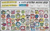 ISRAEL BEZEQ BEZEK PHONE CARD TELECARD 50 UNITS 50 SMILES