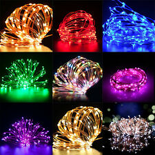 100/150/200 LED Christmas Xmas Party Fairy Copper Wire String Lights 1-20 M