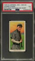 Rare 1909-11 T206 HOF Johnny Evers W/Bat Sweet Caporal 350-460 Chicago PSA 5 EX