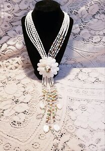 IOB Joan Rivers Starlet Style Soft White Bead Statement Necklace