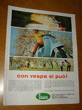 VESPA PIAGGIO CON VESPA DI PUO ' = ANNO 1967 =PUBBLICITA=ADVERTISING=WERBUNG=