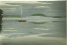 HUGO SIMBERG Ship at the Quay - Kunstdruck Poster Art Print - Retretti 2006