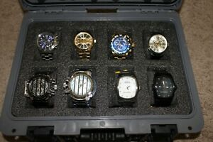 NEW NWT Men's Invicta LOT of 8 Watches in Grey and Black Case
