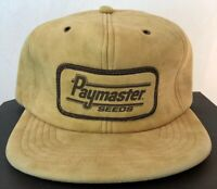 Vintage PAYMASTER SEEDS SnapBack Trucker Hat Cap Patch SEMCO USA FARMER
