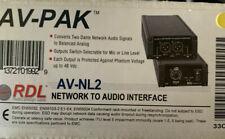 RDL AV-NL2 2 Dante network audio channels to 2 balanced audio outputs Converter