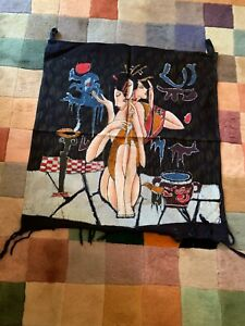 Genuine Handmade Chinese Dyed Batik Wall Hanging -  - Illusion of 3 Ladies
