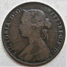 GREAT BRITAIN 1868 QUEEN VICTORIA BRONZE HALF PENNY COIN (KM# 748.2)