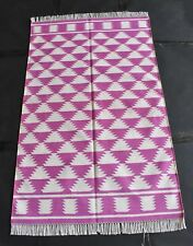 Handmade Ikat Modern Pink Color Beautiful Kilim Area Rug, Home Decor Rug,