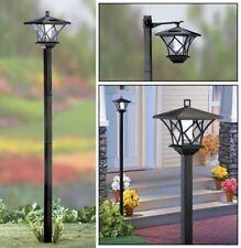 5 Ft Tall Solar Powered 2 In 1 Outdoor Garden Lantern Lamp Post Light Yard Stake