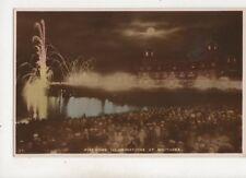 Firework Illuminations At Southsea Vintage RP Postcard 679b