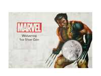 Marvel Wolverine 1oz Pure 99.99% Fine Silver Perth Mint Coin Card Brilliant 2021