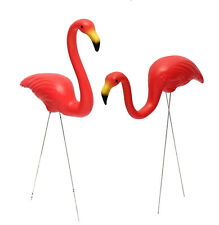 2pcs 56cm 22'' Red Flamingo Outdoor Garden Statues Lawn Ornament Sculpture Decor