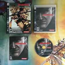 Metal Gear Solid 4: Guns of the Patriots Limited Edition • Sony PlayStation 3 PS