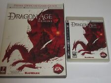 Dragon Age: Origins (Sony PlayStation 3, 2009) w/ Prima Official Game Guide
