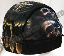 Original Skull Cavern Design Headwrap Biker Doo Rag Cap  #1019