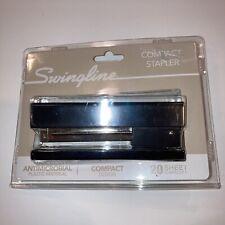 Swingline Compact Desk Stapler Anti Microbial 20 Sheet Capacity Black 74711 New