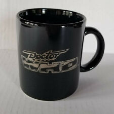 Small Black DOCTOR WHO Mug with Silver Word Logo Detail - 3.75in